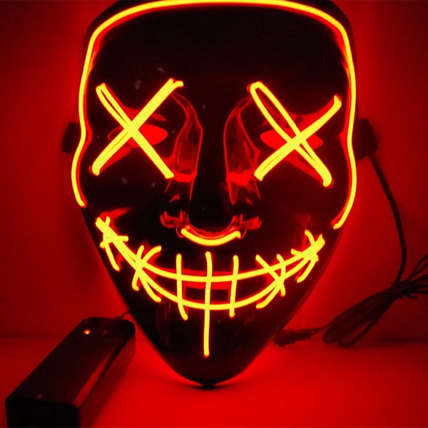 2018 New Year Cosplay LED Light Mask Up from The Purge Election Year Great for Festival Cosplay Halloween Costume - LADSPAD.UK