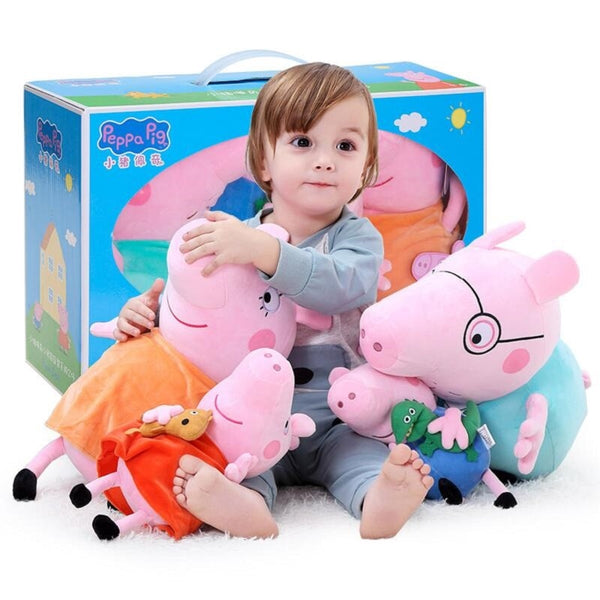 Peppa Pig George Stuffed Plush Family Party Toys Pig Plush Dolls For Girls Gifts Animal Plush Toys - LADSPAD.UK