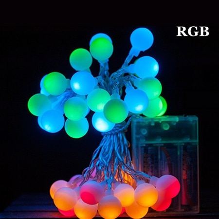 KZKRSR 3M 5M 10M Fairy Garland AA Battery LED Ball String Lights Waterproof For Christmas Tree Wedding Indoor Decoration light - LADSPAD.COM