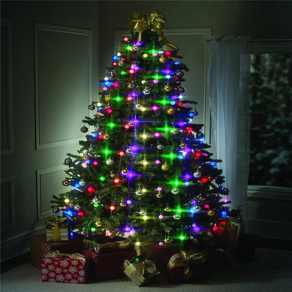 VNL Christmas Tree LED String Lights Colourful Changeable Twinkling Night  Wedding Lamp Holiday Home Garden Party Decoration - LADSPAD.COM