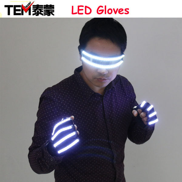 Free Shipping Bright LED Stage Costumes LED Gloves, Luminous LED Glasses , Laser Stage Props Party Supplies - LADSPAD.COM