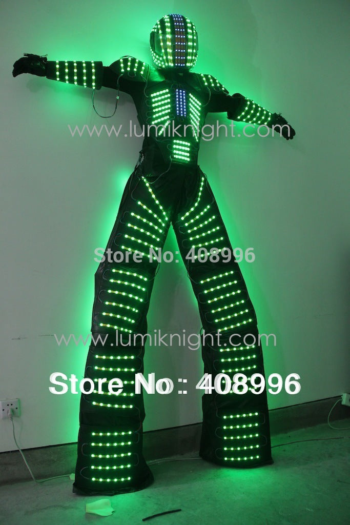 LED Robot Costume / David Guetta LED Robot Suit/ illuminated kryoman Robot - LADSPAD.COM