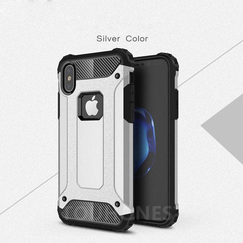 For iPhone XS Max XR Case Hard Rugged Case For iphone X 7 8 plus 6S 6 plus 5S SE 5 Hybrid Armor Phone Cover Double Protect Slim - LADSPAD.COM