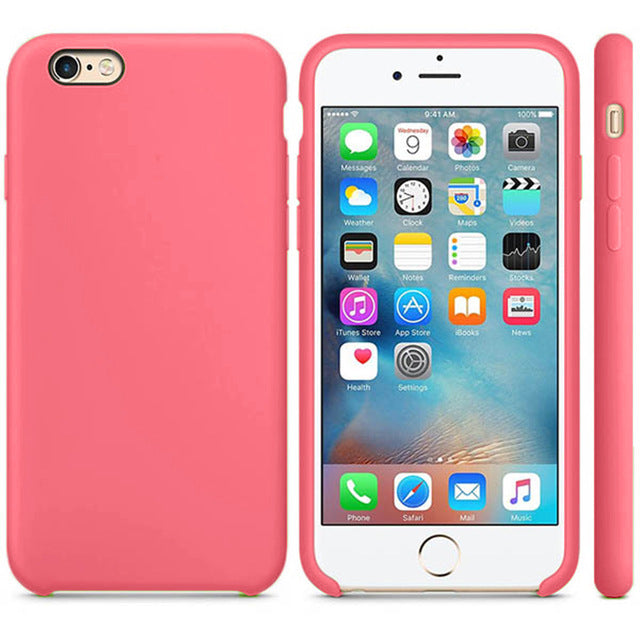 Have LOGO Original Silicone Case For iPhone X XS Max XR Cover For iPhone 5 6 6S 7 8 Plus Official Silicon Case With Retail Box - LADSPAD.UK
