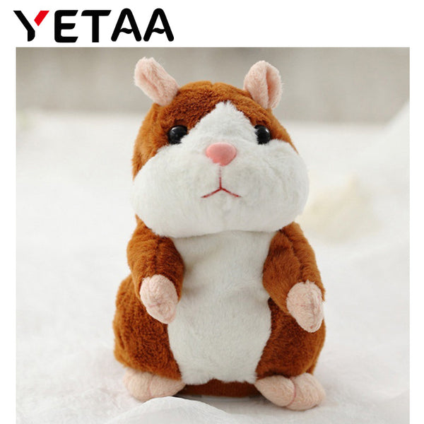 YETAA Speaking Talking Sound Record Hamster Sweet Animals Talking Hamster Toys for Children Stuffed & Plush Animals Sweetie Toys - LADSPAD.UK