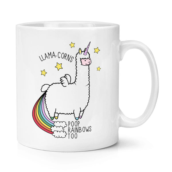11oz Llama-corns Poop Rainbows Too Unicorn Magical Animal Coffee Mug Tea Cup - LADSPAD.COM