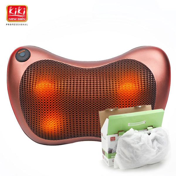 11.11 KIK NEWGAIN neck multifunction dish massager massage pillow Cushion cervical lumbar leg massager body massager shoulder - LADSPAD.UK
