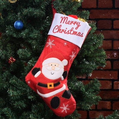 Christmas Stockings, Christmas Decorations, Santa Claus Christmas Gift Bag Candy Bag Pendant 45*26CM - LADSPAD.COM