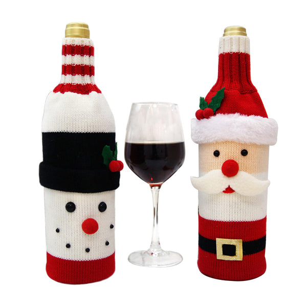 Hoomall 1PC Home Dinner Party Table Decors Wine Cover Christmas Decorations Santa Claus Snowman Gift Navidad Xmas Party Supplies - LADSPAD.COM