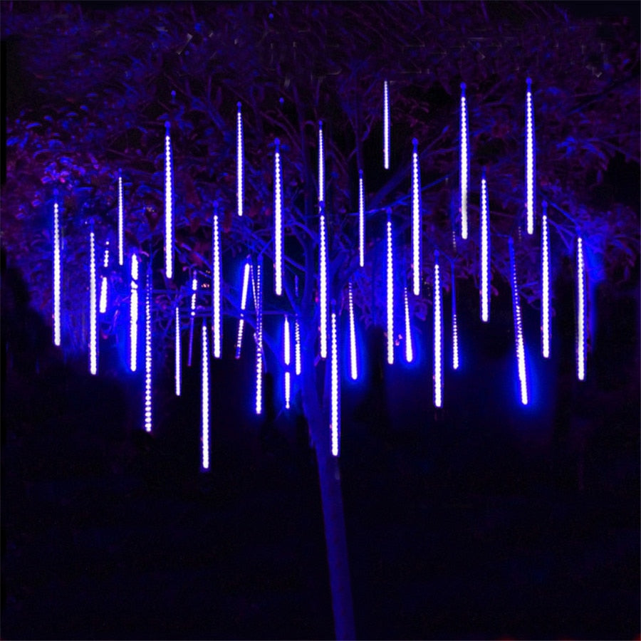 Holiday Meteor Shower Rain LED String Light Waterproof 30cm 50cm 8 Tube Indoor Outdoor Garden Christimas Tree Party Square Decor - LADSPAD.COM