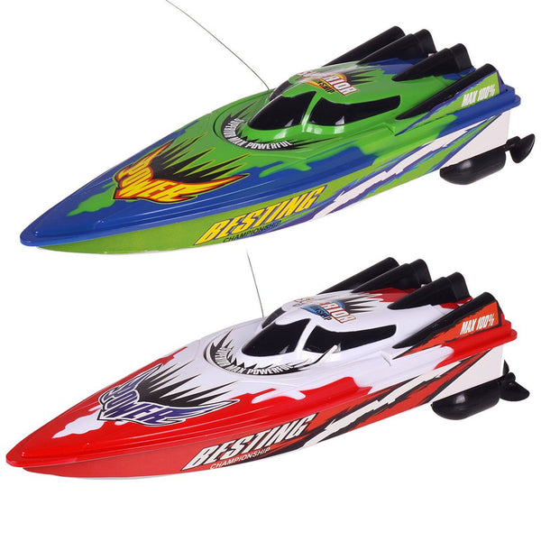 New Radio Remote Control Dual Motor Speed Boat RC Racing Boat High-speed Strong Power System Fluid Type Design - LADSPAD.COM