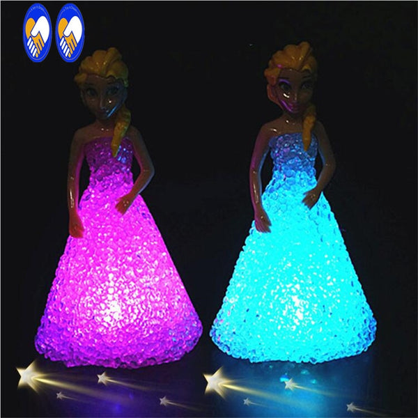 (A Toy A dream)Anna Elsa Toys Doll Ice Snow Queen 7 LED Color Baby Doll Toys For Girls Baby Doll Toys For Girls FW111 - LADSPAD.COM