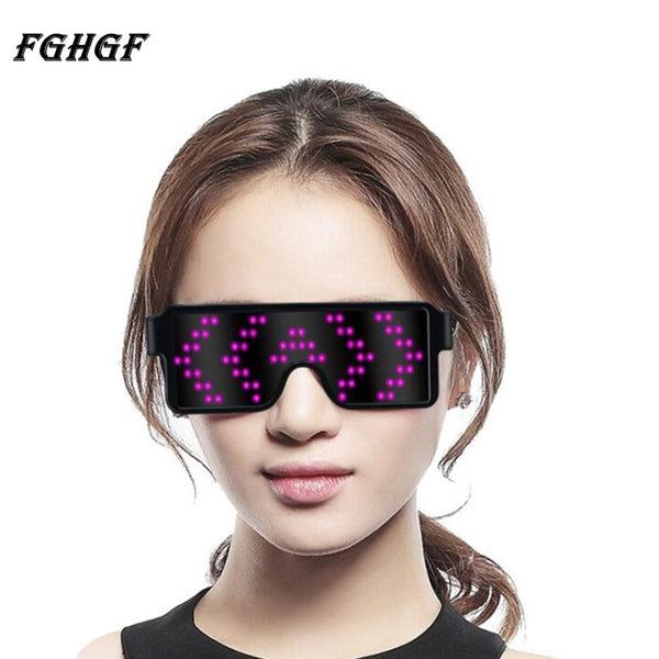 FGHGF Neon LED Glasses Glowing Light Novelty Light Festival Party Sunglasses LED Light Party Decoration - LADSPAD.COM