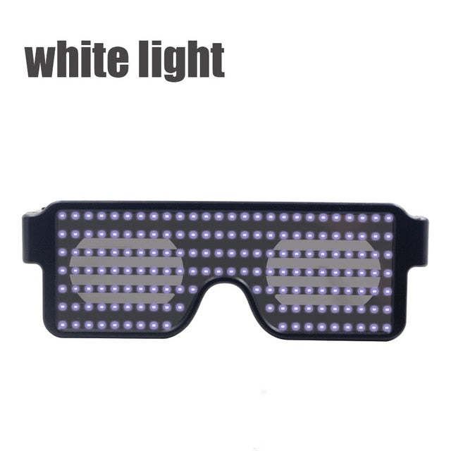 New 8 Modes Quick Flash Led Party Glasses USB charge Luminous Glasses Christmas Concert light Toys Dropshipping