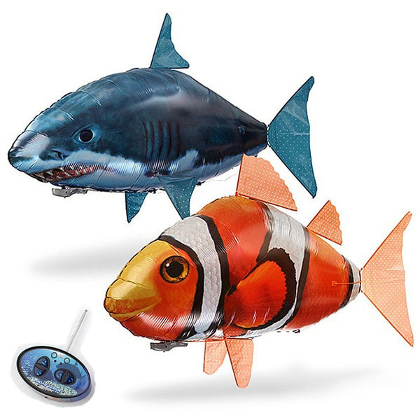 1PCS Remote Control Flying Air Shark Toy RC Helicopter Inflatable With Helium Fish plane Clown Fish Balloons Robot Gift For Kids - LADSPAD.COM