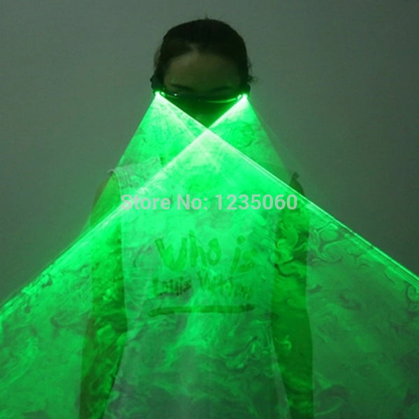 Halloween Christmas Rechargeable Green Red Laser Glasses LED Stage Luminous Glasses for DJ Club Party decoration - LADSPAD.COM