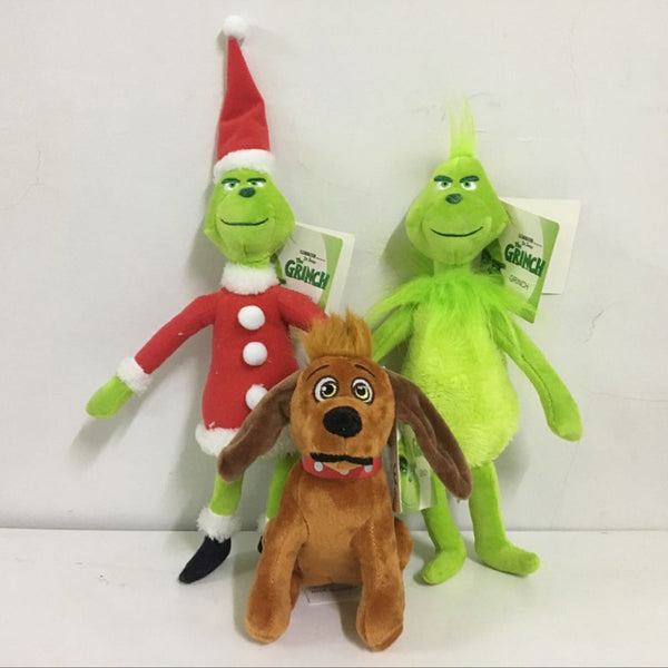 Grinch Plush Toys 18-40cm How the Grinch Stole Christmas Grinch Max Dog Plush Doll Toy Soft Stuffed Toys for Children Kids Gifts - LADSPAD.UK