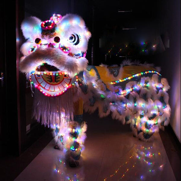LED Light Lion Dance costumes  Lion dance Chinese lion dance costume Foshan Wool Fashion Light lion cosplay costume