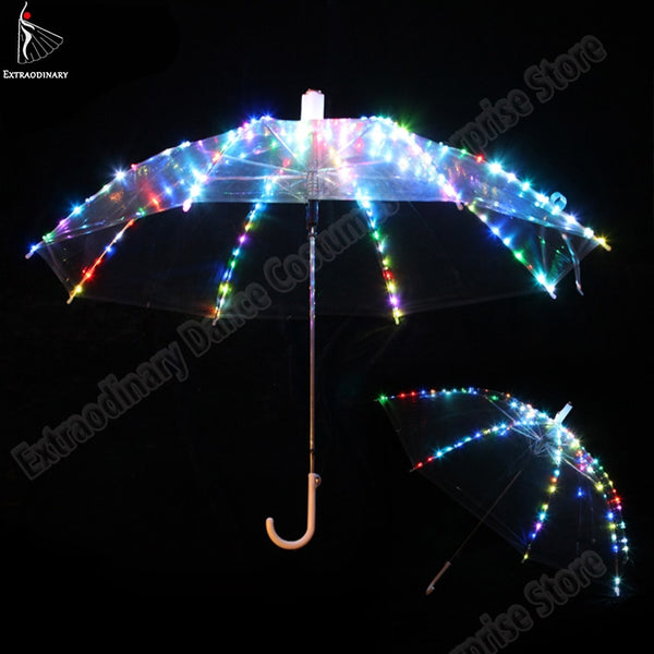 New Women Belly Dance LED Light Umbrella Stage Props As Favolook Gifts Costume Accessories Dance Led 4 Colours - LADSPAD.COM