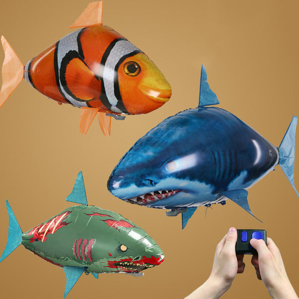 Remote Control RC Toy Inflatable Balloon Air Swimmer Flying Clown RC Fish Gift For Kids