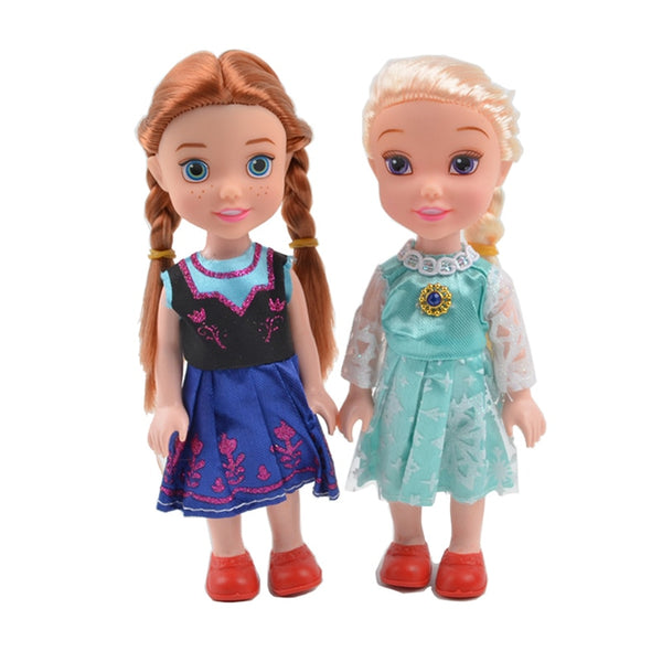 2pcs/set Disney Cartoon Princess Doll Kawaii Elsa Anna action figure model Toys Birthday Christmas Gifts toys For children - LADSPAD.UK