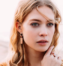 Modern Rosé Gold Plated 10mm Earring