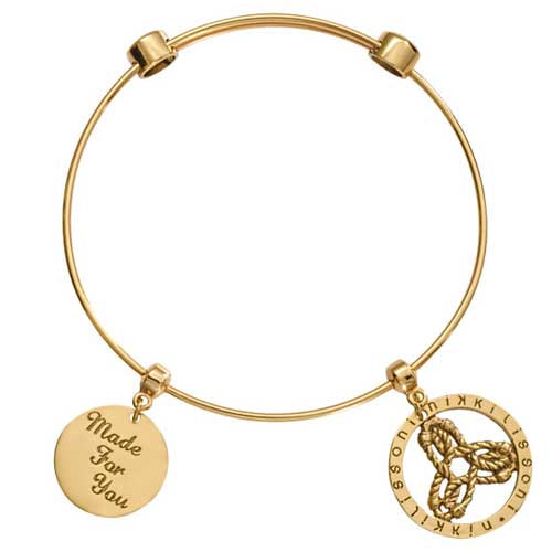 Nikki Lissoni Innerstrength Bangle Gold Plated 17cm