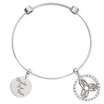 Innerstrength Bangle Silver Plated 17cm