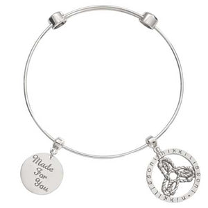 Nikki Lissoni Innerstrength Bangle Silver Plated 17cm