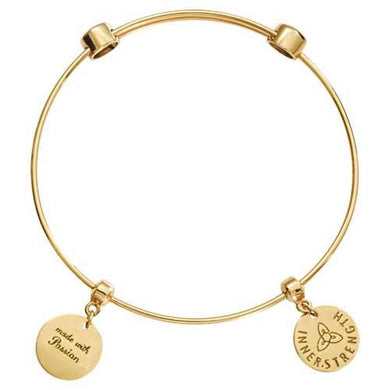 Innerstrength Bangle Gold Plate