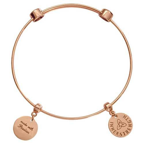 Innerstrength Bangle Rose Gold Plate