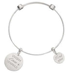 Wish Love Sparkle Bangle Silver Plated