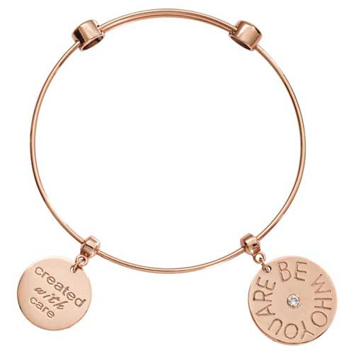 Nikki Lissoni Be Who You Are Bangle Rose Gold Plated 19cm