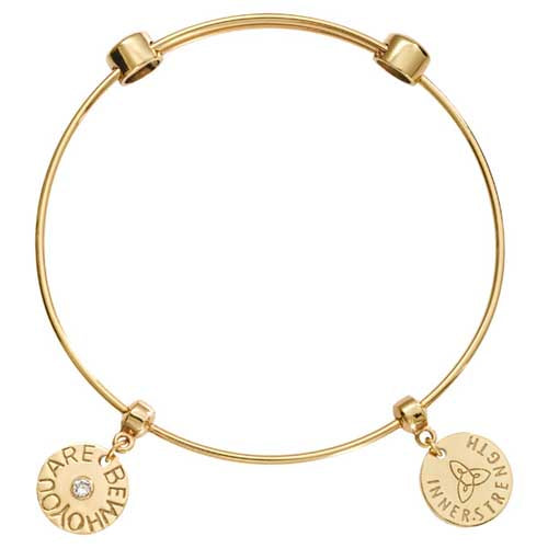 Be Who You Are Bangle Gold Plated 19cm