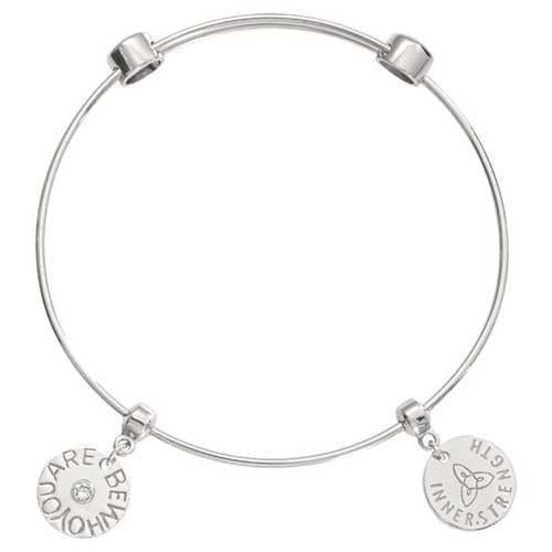 Be Who You Are Bangle Silver Plate