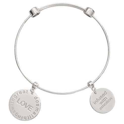 Do Small Things Bangle Silver Plated 19cm