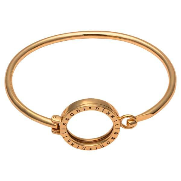 Nikki Lissoni - Bangle Gold Plate With Sml Pendant