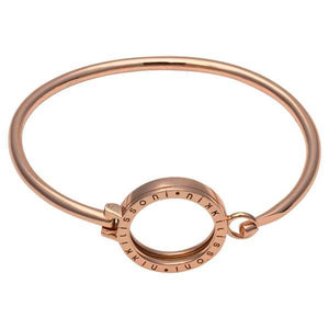 Nikki Lissoni - Bangle Rose Gold Plate With Sml Pendant