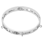 Wild Heart Bangle Silver Plated
