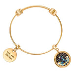 Crystal Rock Bangle Gold Plated