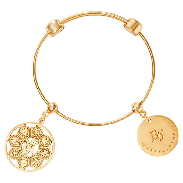 Symbol Of Ohm Bangle Gold Plated