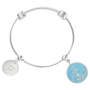 Something Blue Bangle Silver Plate