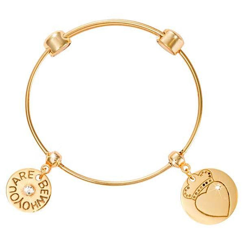 Loyalty Heart Bangle Gold Plate