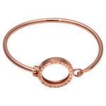 Bangle Rose Gold Plate Swarovski Small Pendant