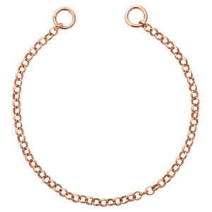 Round Cable Tag Bracelet Rose Gold Plate
