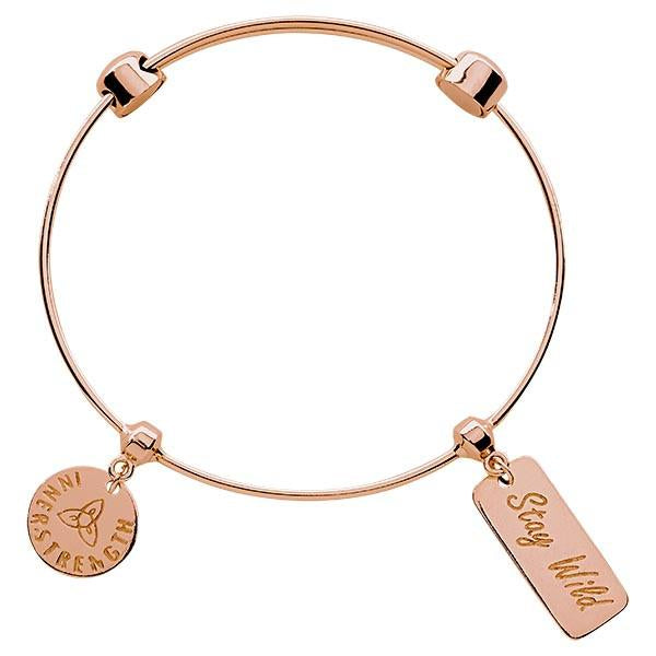 Stay Wild Bangle Rose Gold Plate