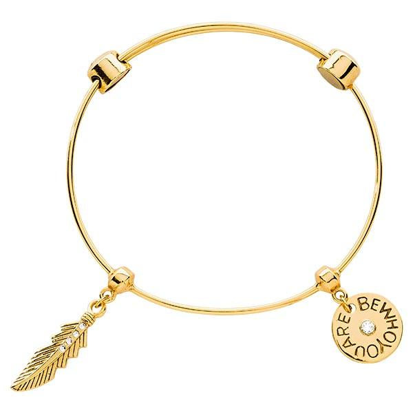 Featherlight Bangle Gold Plate