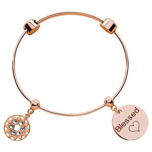 Blessed Bangle Rose Gold Plate