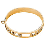 Love Life Swarovski Bangle Gold Plated