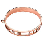 Love Life Swarovski Bangle Rose Gold Plated